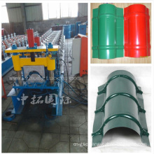 Colored Steel Roofing Ridge Cap Stamping Machine